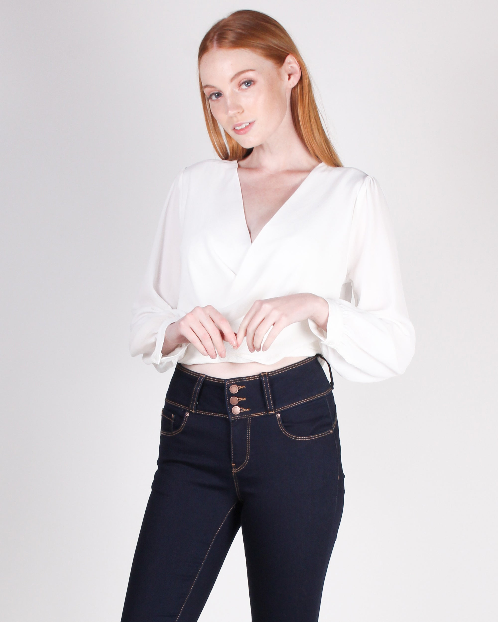 Fashion Q Shop Q Be You, Unapologetically Blouse Top (Off White) DN1359
