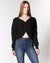 FashionQ ShopQ I'm Yours Twisted Knot Sweater (Black) DN1395