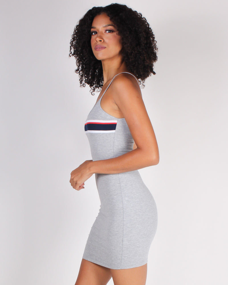 Fashion Q Shop Q Wish You Were Here Bodycon Dress (Heather Gray) DX7155