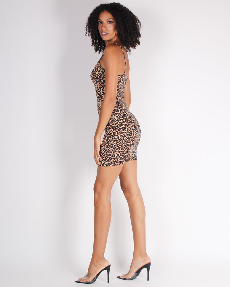 Fashion Q Shop Q Just Say Yes Cheetah Bodycon Dress (Cheetah) DX7258