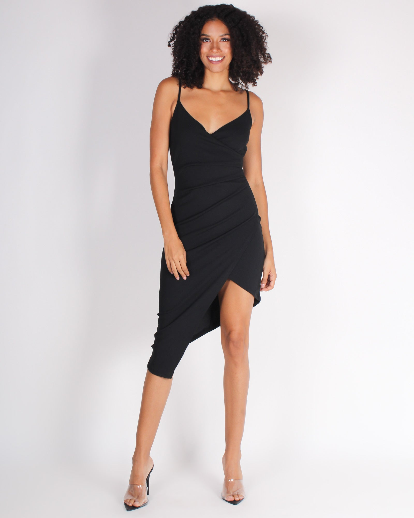 Fashion Q Shop Q Tonight We Party Bodycon Dress (Black) DX7331