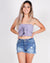 Knotty Knotty Tube Crop Top (Lavender)