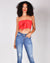 Fashion Q Shop Q Knotty Knotty Tube Crop Top (Red) DZ19C950