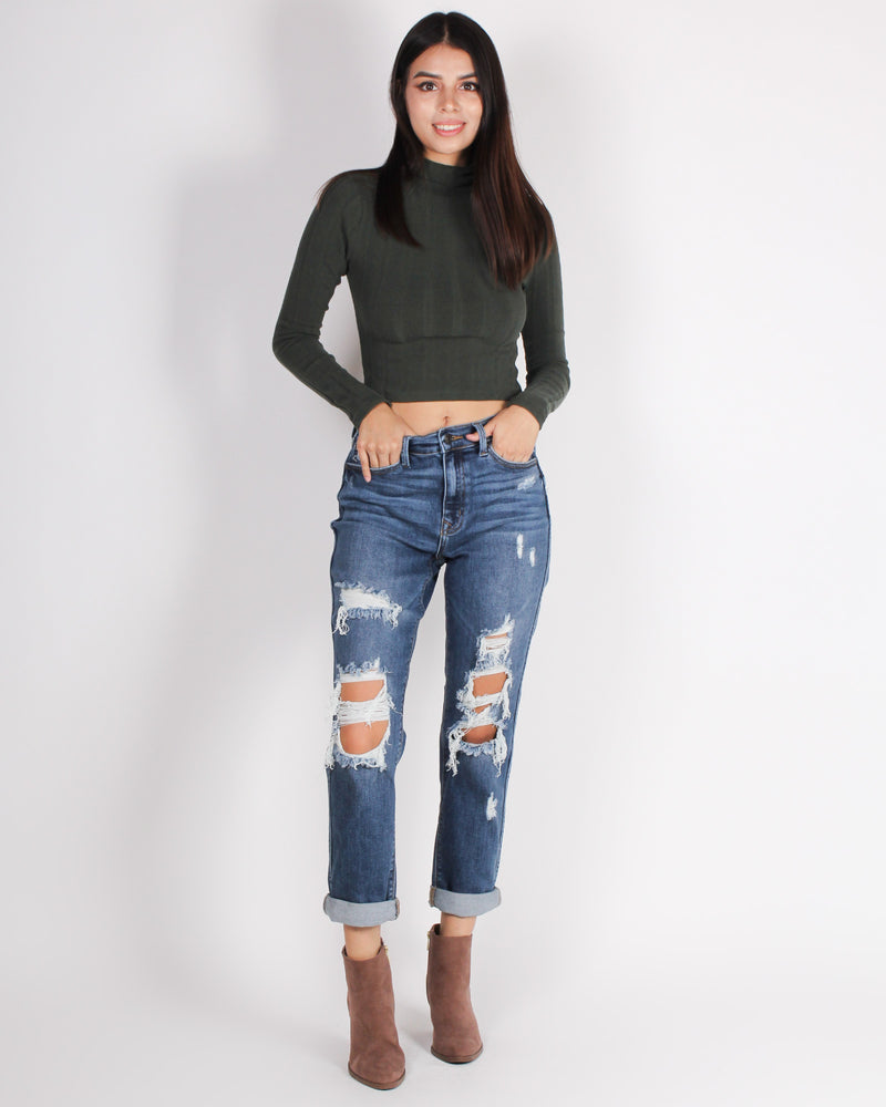 Fashion Q Shop Q Walk like You Deserve to be Where You Are Boyfriend Jeans (Medium) E88041NEX
