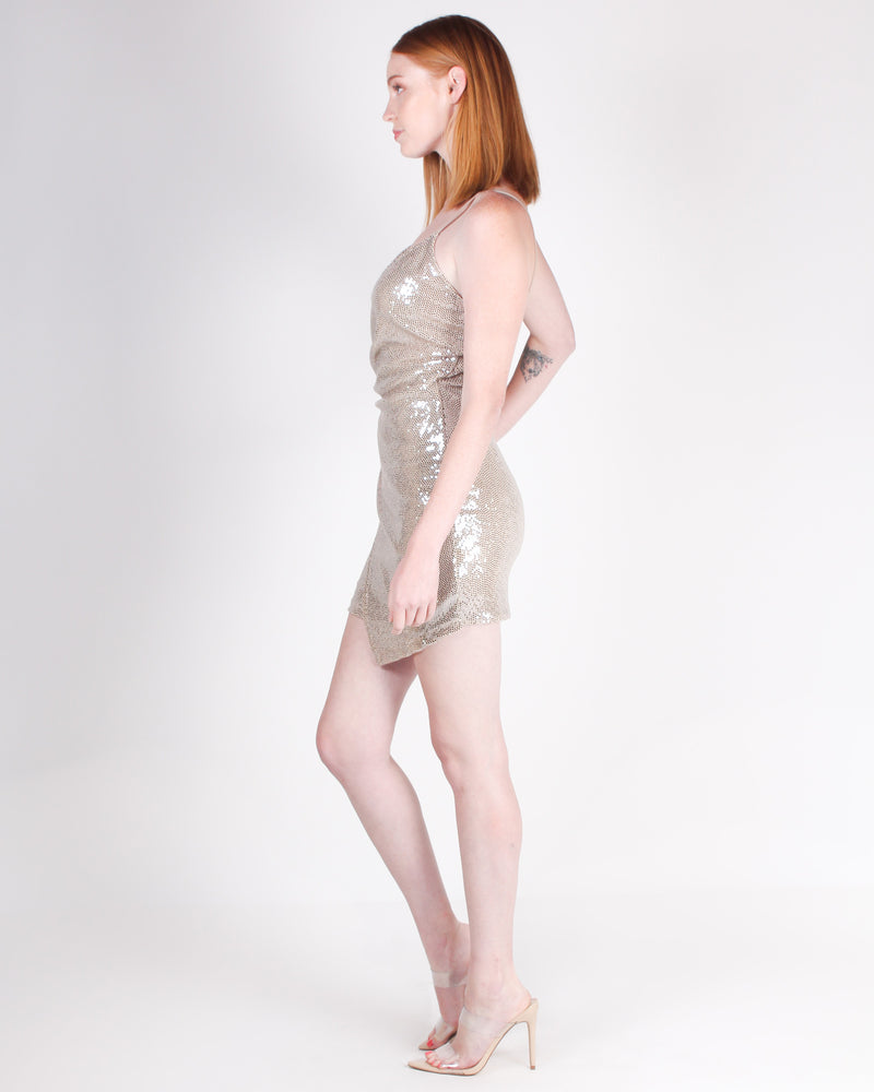 Fashion Q Shop Q Glow with Me Bodycon Dress (Gold) ED2116