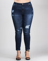 Walk Toward Your Dreams Skinny Plus Jeans (Dark Wash)