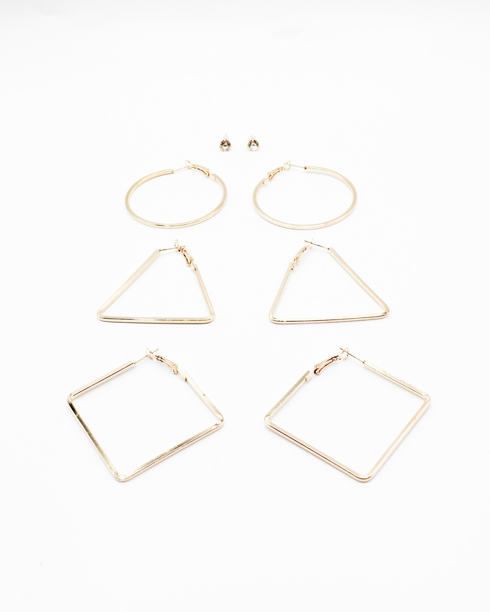 Fashion Q Shop Q Don't Forget to Have a Good Time Earring Set (Gold) ER-919