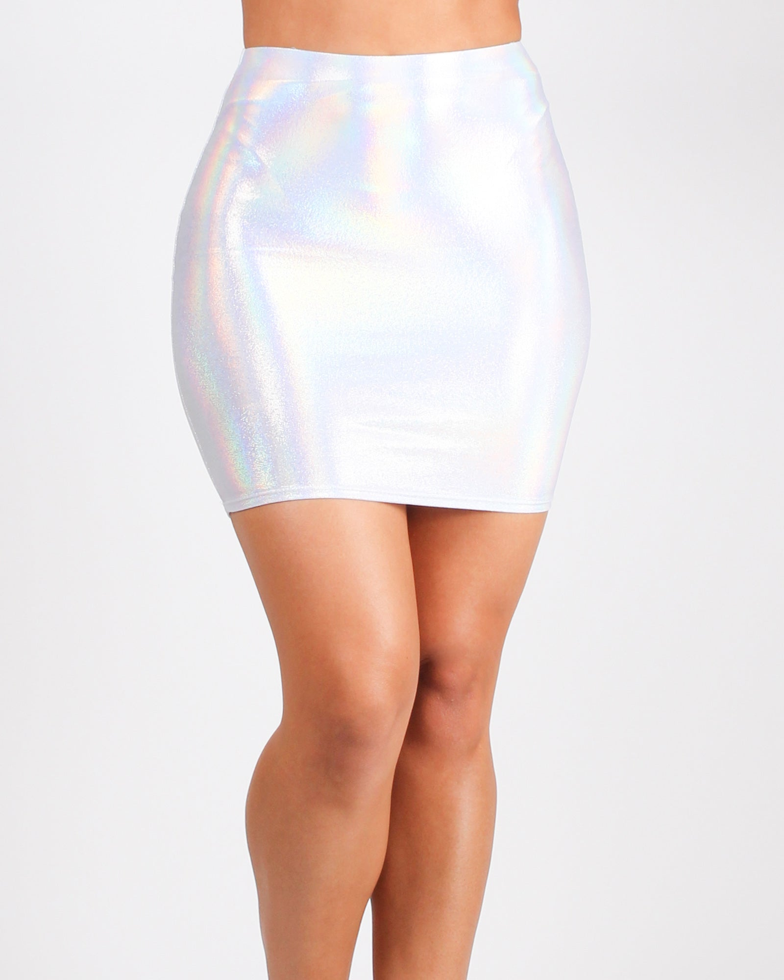 Fashion Q Shop Q Get Your Sparkle On Miniskirt (Holo) ES0465-14