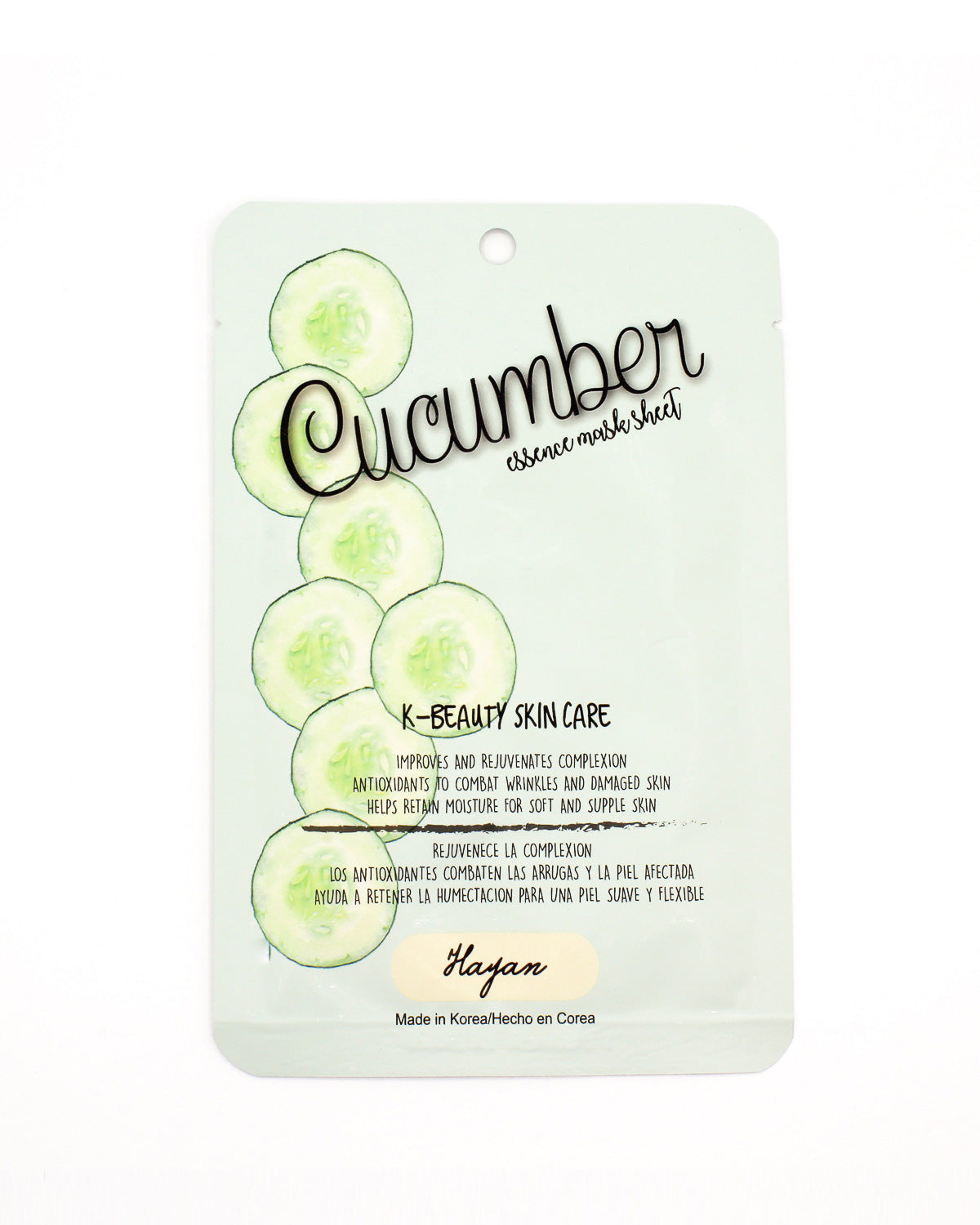 Fashion Q Shop Q K-Beauty Skincare Line: Cucumber Essence Mask Sheet K-BEAUTY