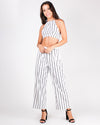 Get Your Striping Happy On Crop and Pant Set