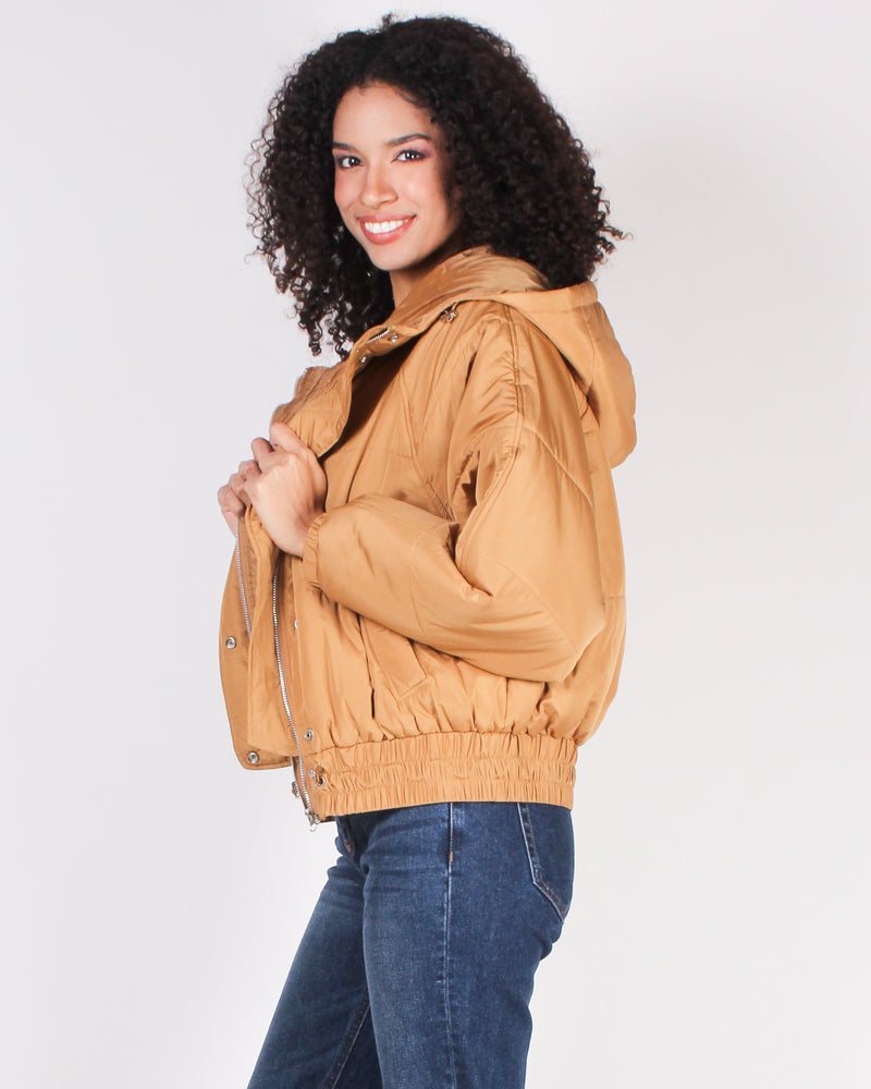 Fashion Q Shop Q Places to Go in Style Bomber Jacket (Camel) FL19H009