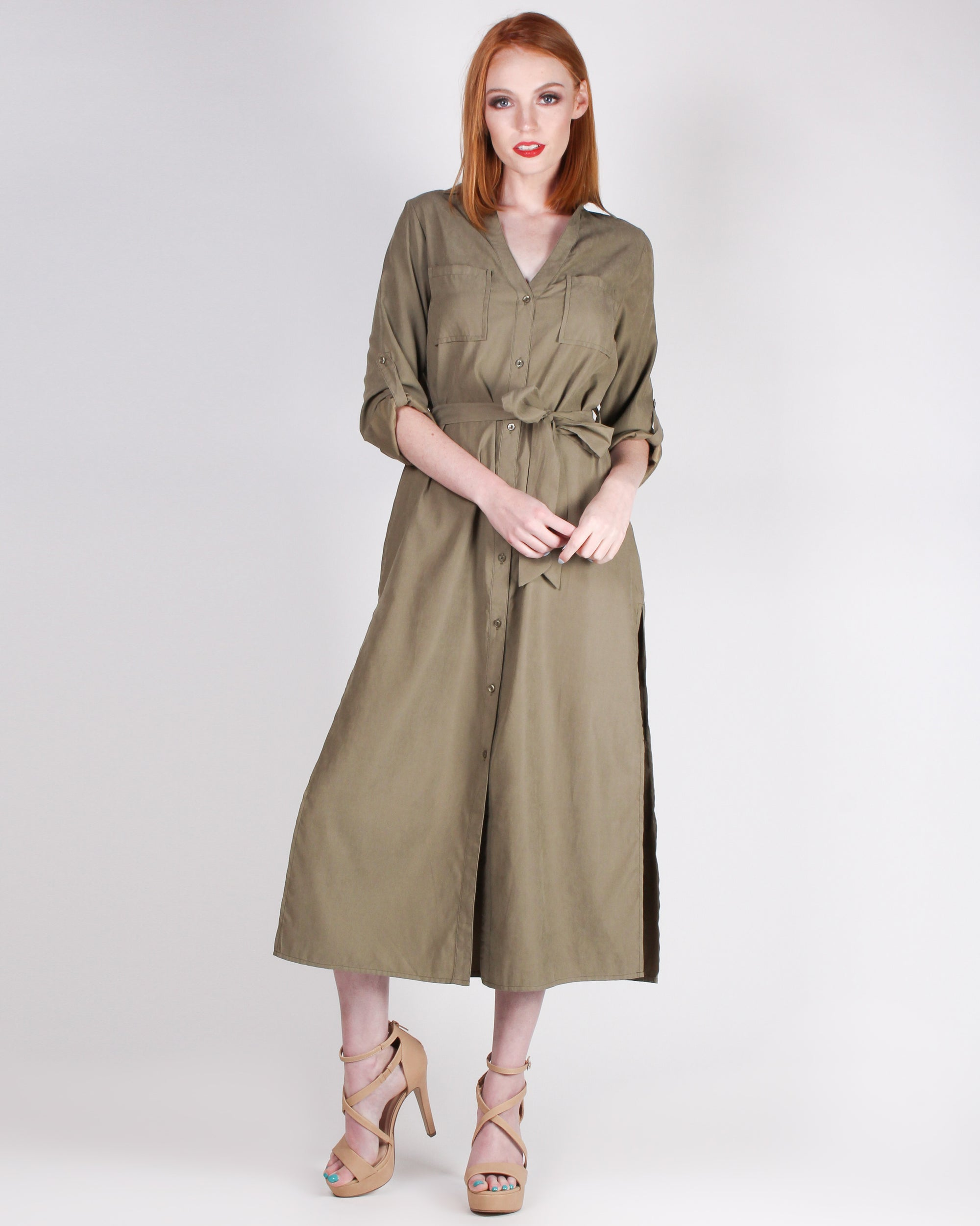 Work the Room Boiler Dress (Olive)