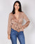 Fashion Q Shop Q Poetry in Your Body Deep V Top (Latte) FL20C615