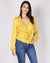 Fashion Q Shop Q Poetry in Your Body Deep V Top (Yellow) FL20C615