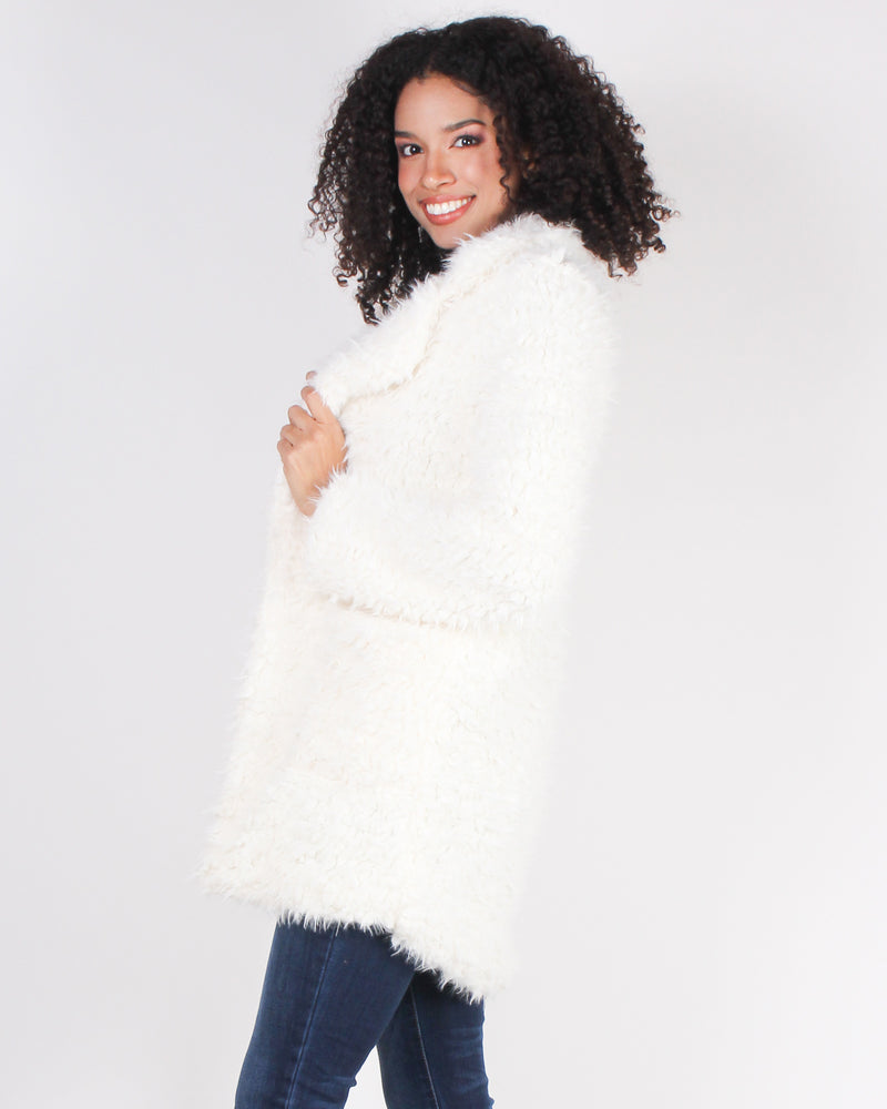 Fashion Q Shop Q I Do a Thing Called What I Want Fur-real Jacket (Ivory) FL20E801