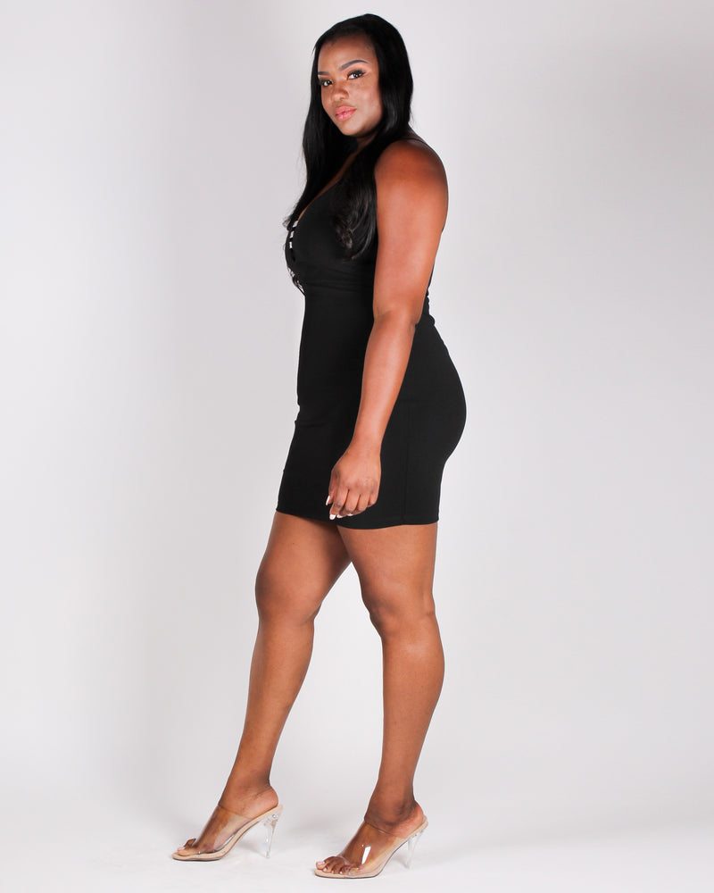 Target Acquired Bodycon Dress (Black)