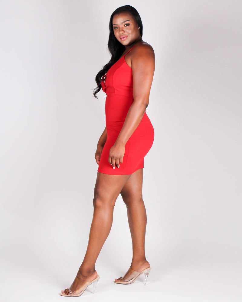 Target Acquired Bodycon Dress (Red)