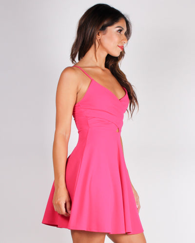 This is Your Moment Cut-out Skater Dress