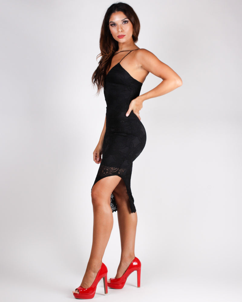 She Acts Like Summer, But Moves Like Rain Bodycon Dress (Black)