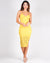 She Acts Like Summer, But Moves Like Rain Bodycon Dress (Yellow)