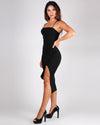 Siesta, Fiesta, Tequila, Repeat Bodycon Dress (Black)