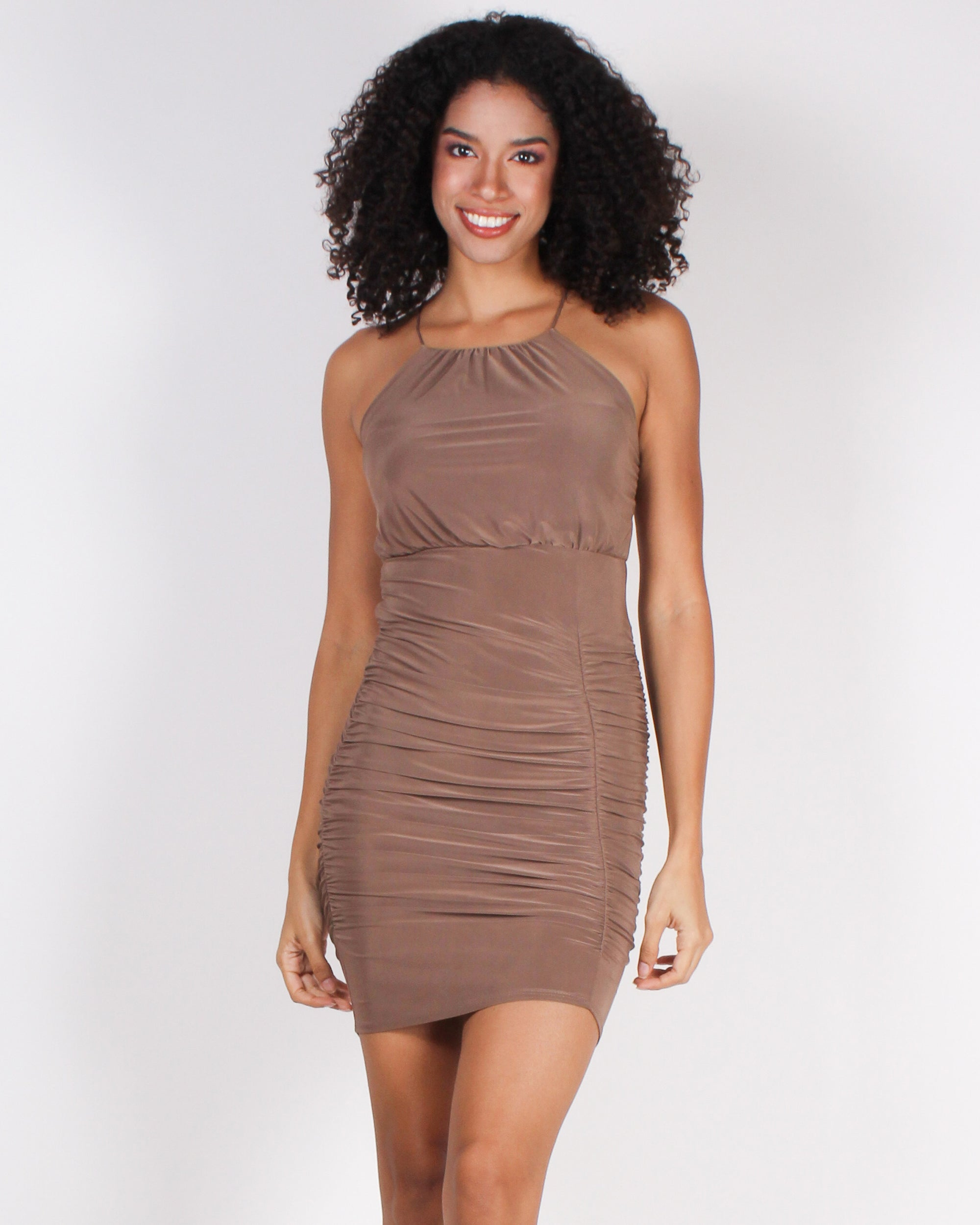 Dashion Q Shop Q Possibilities Await Bodycon Dress (Mocha) GD14571