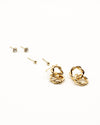 Fashion Q Shop Q Take the Risk or Lose the Chance Set of Gold Earrings GE5588
