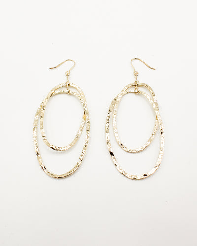 Fashion Q Shop Q Sweet, Sweet Victory Interlocking Oval Gold Earrings GE6462