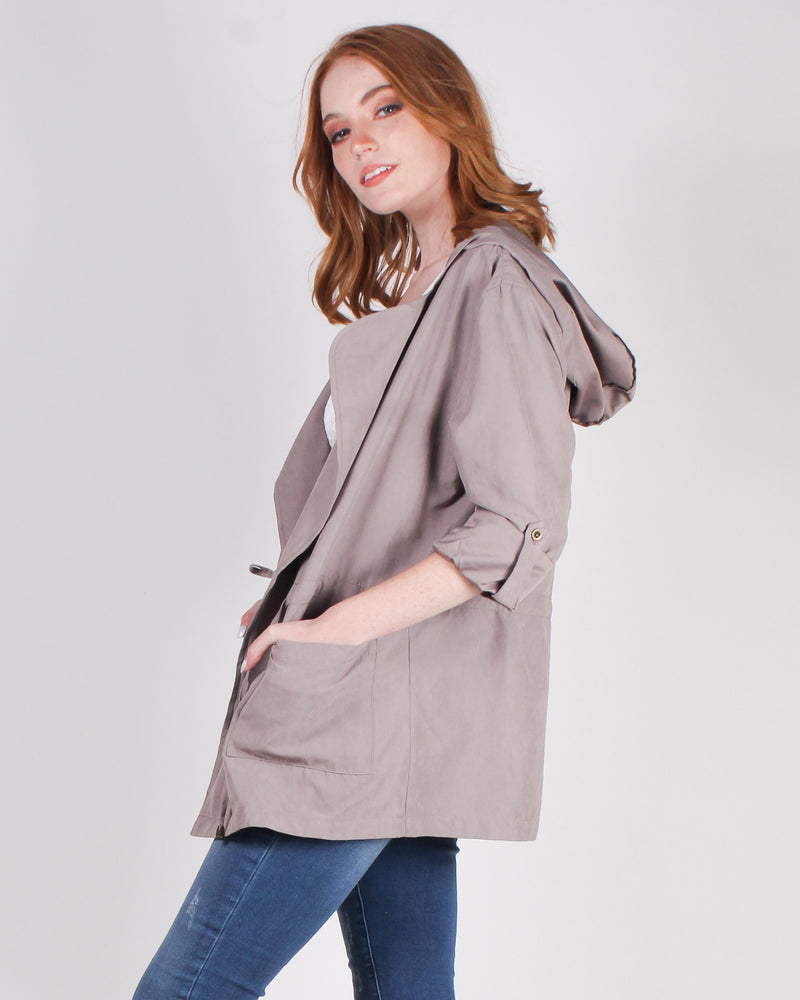 Fashion Q Shop Q #OOTD Light-weight Parka Jacket (Mocha) HJ8267