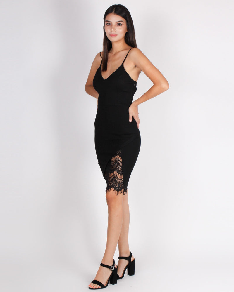 Fashion Q Shop Q Activate the Sexy Bodycon Dress (Black) HMD10671
