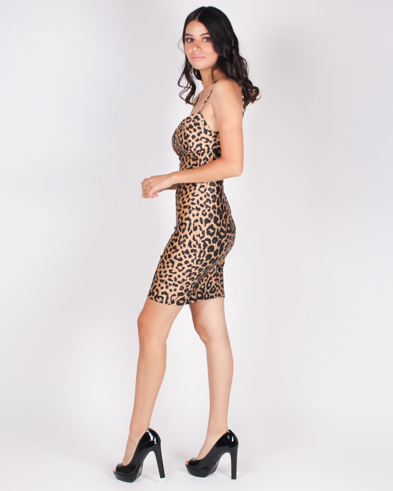 Fashion Q Shop Q Be The Reason You Smile Bodycon Dress (Cheetah) HMD12043