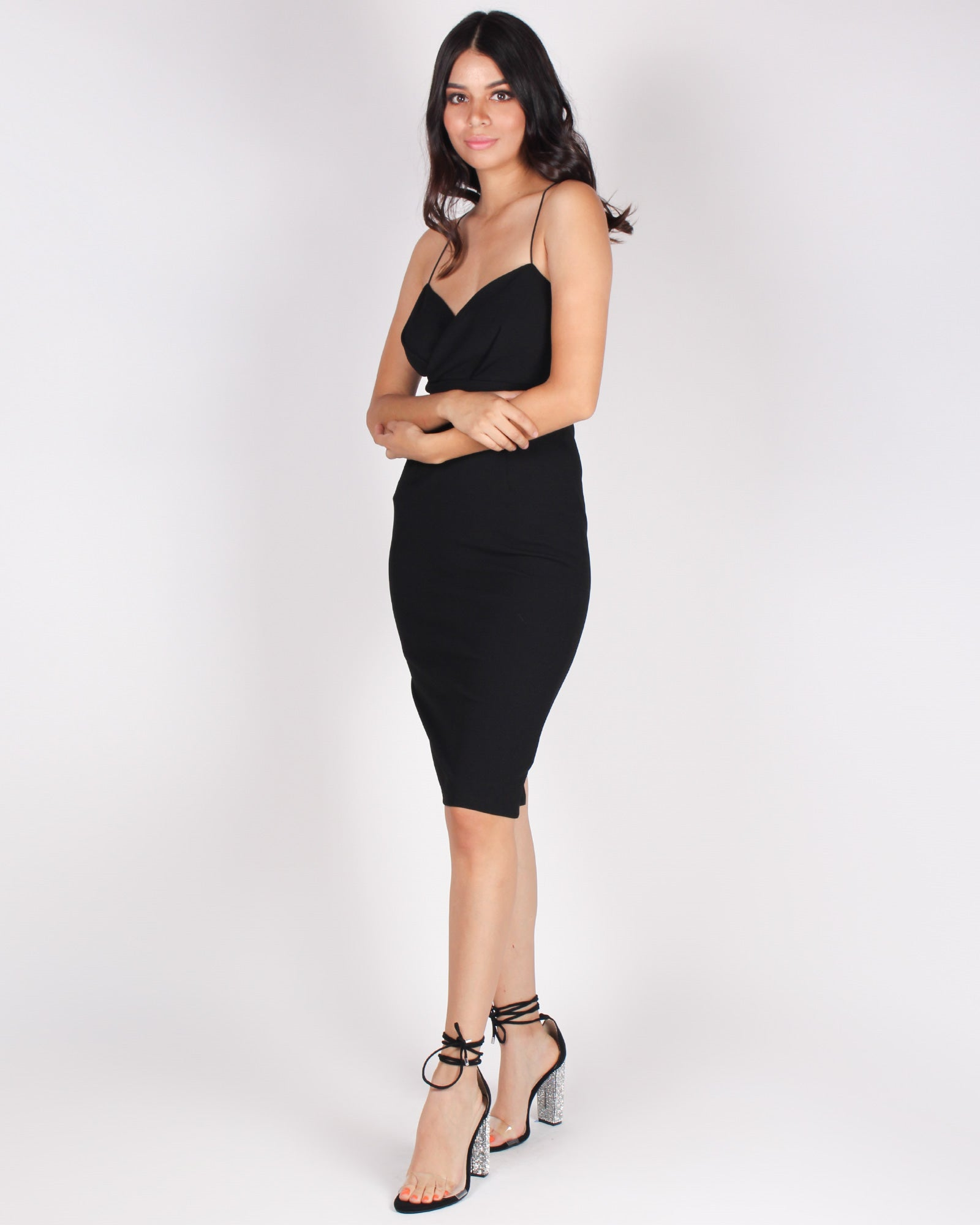 Fashion Q Shop Q Cheers to the Night Bodycon Dress (Black) HMD12081