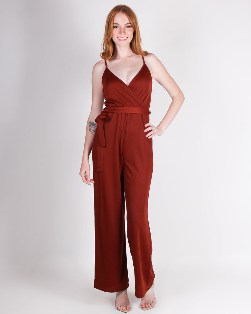 Fashion Q Shop Q Dare to Stand Out Jumpsuit (Cognac) HMP30813-S