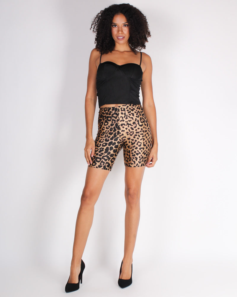 Fashion Q Shop Q Walk on the Wild Side Biker Shorts (Cheetah) HMSP30091-996