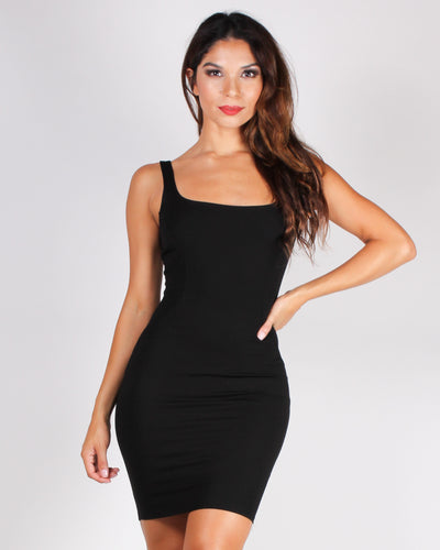 Knockout Punch Bodycon Dress (Black)