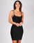 You're My Happy Place Bodycon Dress (Black)