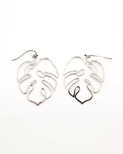 Fashion Q Shop Q Find Me Under the Palm Silver Dangle Earrings IE11278