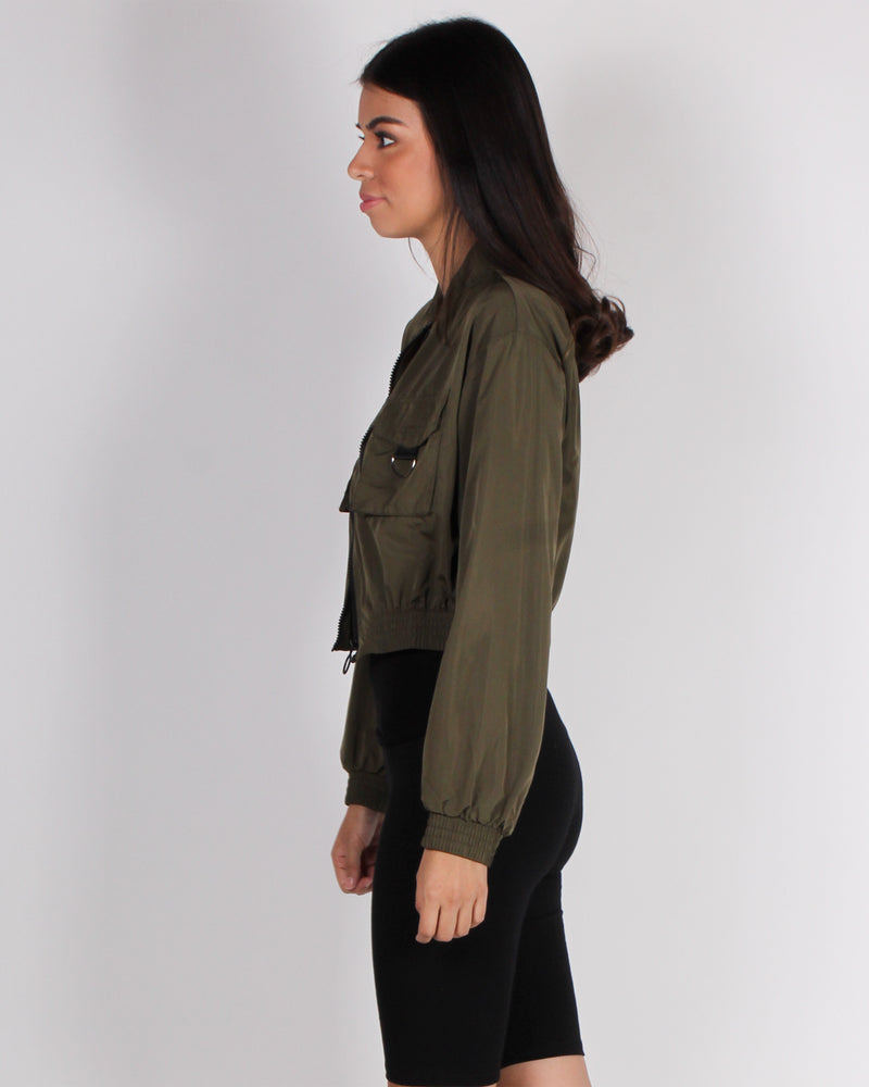 Fashion Q Shop Q Nothing, but the Best for You Windbreaker (Olive) IJ99102