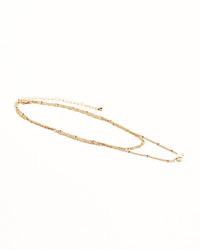Fashion Q Shop Q Starlight, Starbright Layered Gold Choker IN12577