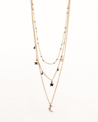 Wish Upon a Star Layered Gold Necklace