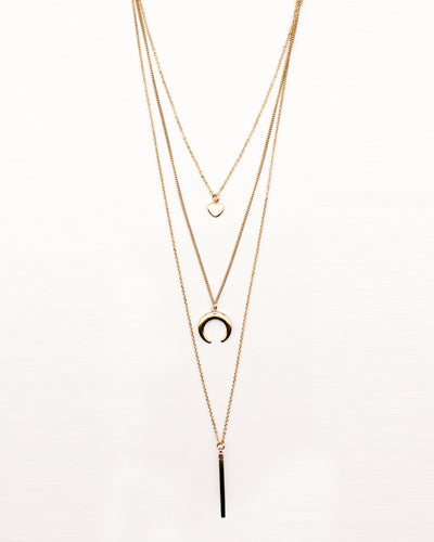 Fashion Q Shop Q Some Moments are Gold Layered Necklace IN6809GD