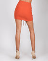 Fashion Q Shop Q You Cannot Ruche Love  Pencil Skirt (Dark Rust) IS1240