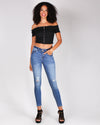 Fashion Q Shop Q Hook, Line and Sinker Crop Top (Black) IT90022
