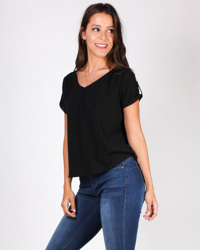 Time After Time Blouse (Black)