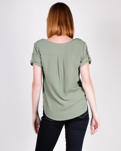 Time After Time Blouse (Dusty Sage)