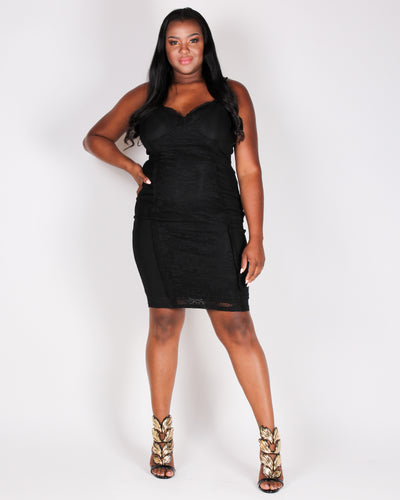 Radiating Confidence Kinda Bodycon Dress (Black)