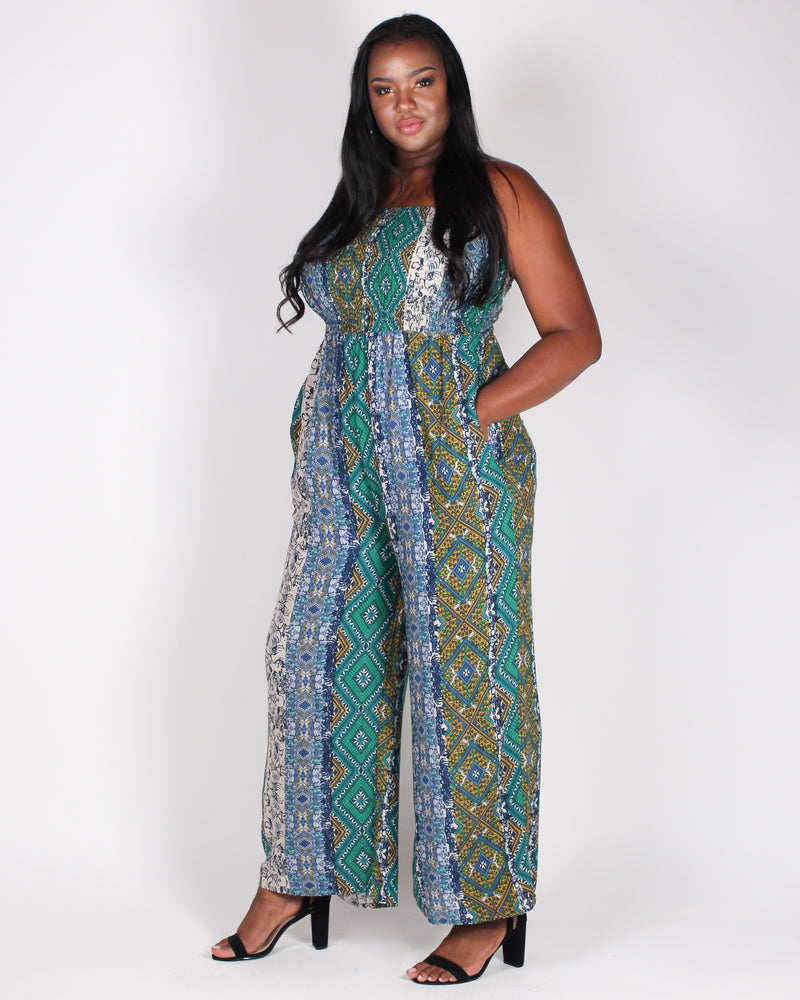 A Little Boho To Brighten Your Day Jumpsuit (Green)