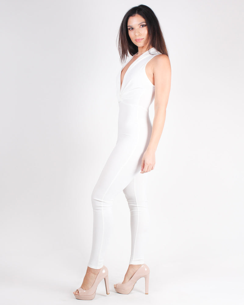 Fashion Q Shop Q Strike a Pose Jumpsuit (Off White) J1920