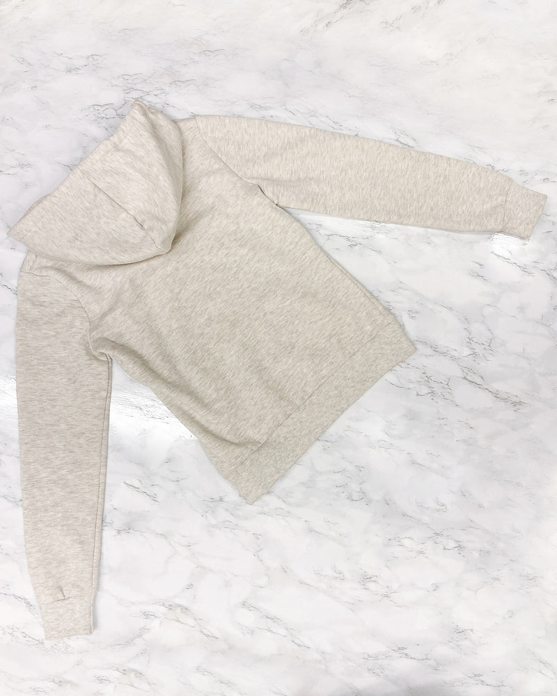 ashion Q Shop Q The Heather Hoodie (Oatmeal) J416