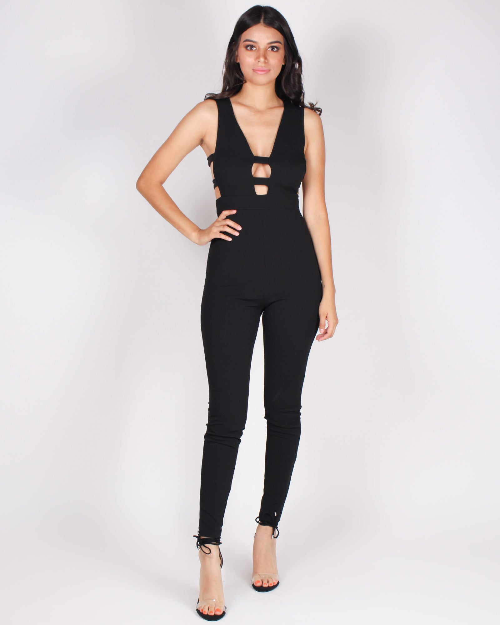 Fashion Q Shop Q Ready for the Weekend Jumpsuit (Black) J889